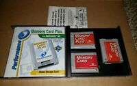 N64 Memory Card Nintendo 64 Game System Accessory Performance Brand Lot of 3