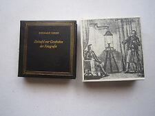 """Minibuch""""Zeittafel zur Geschichte der Fotografie"""" brauner Einband mit Schuber,"""