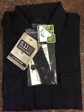 5.11 Tactical Men 72002 L/S Ripstop TDU Shirt Hidden Pockets Dark Navy XL