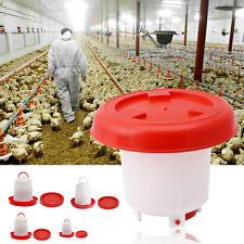 Chicken Feeder Drinker Poultry Chick Hen Quail Bantam Food Water 1.5L/2.5L/4L