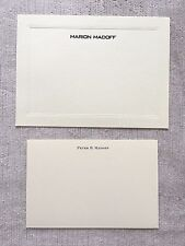 Bernie Madoff Family Stationery Note Paper Letter Card Personally Owned