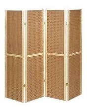 """For Sale Floor Wood Pegboard Display - 4 Panel 5' (60"""") Tall (Natural Finish)"""