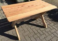 NEUHolz massiv Tisch 130 x 80 cm FSC Lärche Holztisch Garten Möbel Gartentisch