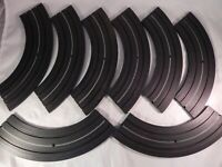 "Vtg Aurora Curve Track Slot Car Racing 9"" 1/4 Section No 1519 Radius Lot of 8"