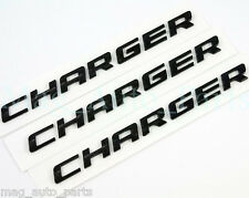 Dodge Charger R/T Black script door trunk emblem 3pc letter 08-13 RT SXT 09 11