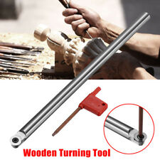 250mm Wood Turning Chisel R6 Round Carbide Tip Bit Multi Lathe Tool + T15 Wrench