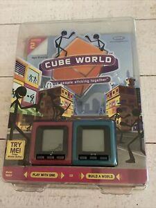 Cube World Stick Figure Blue Pink Mattel NEW SEALED Series 2