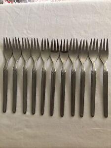 WMF Cromargan Germany ~ 11 Dessert Forks ~ Vintage ~ EUC