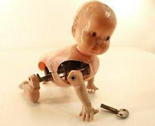 Muñeca Antigua Muñeca Bebé Andador Plástico Mecanismo Para Llavero
