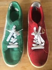 Mens Ugly Christmas Sweater Party Shoes Red And Green Sneakers Size 10 Holiday