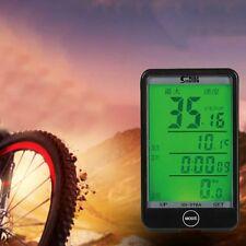 Bicicleta de Montaña Bici Bicicleta Ciclismo Velocímetro Odómetro computadora LCD Retroiluminación Imán #