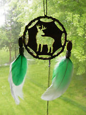 Deer Buck Dreamcatcher Ornament Handmade Wood Support Wildlife Rehab