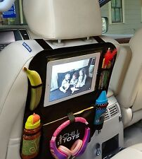 Chill Tots Back Seat Car Organiser Tablet Holder Kids Kick Seat Protector Cover