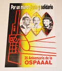 Political POSTER.Original OSPAAAL Cuban propaganda.Cold war art.Lumumba.Minh.Che