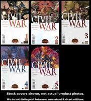 Civil War (2nd Series) 1-5 Marvel 2015 Complete Set Run Lot 1-5 VF/NM