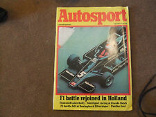 Autosport Magazine 1 September 1977 1000 Lakes Rally Dutch GP Panther Lima Test