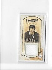 MIKE MODANO 2009-10 UD CHAMPS MINI THREADS GAME USED JERSEY