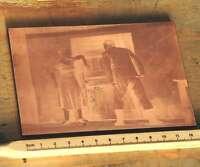 FRAU und MANN Galvano Druckstock Kupferklischee Druckplatte Druckerei Bleisatz