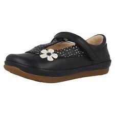 Chaussures habillées bleues en cuir pour fille de 2 à 16 ans