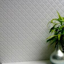 Flower Floral Wallpaper Paintable Amber Luxury Textured Vinyl Embossed Anaglypta