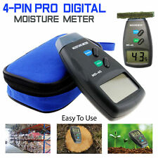 2019 Digital LCD Damp Moisture Meter Detector Tester Wood Timber Plaster Sensor