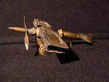 Avion 1914-1918 en cuivre et laiton artisanat poilu d'époque