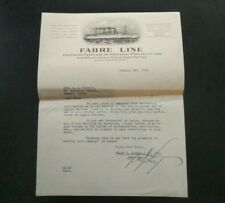 1928 FABRE LINE STEAMSHIP CO Letterhead
