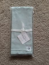 New Pack of 2 Pottery Barn Linen Hemstitch Guest Hand Towels, Blue, Nwt