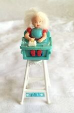 """4"""" Kelly Doll In High Chair Mattel  Mcdonald's Happy Meal Toy Barbie Eatin Fun"""