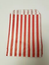 100 paper Red and white candy stripe sweet bags