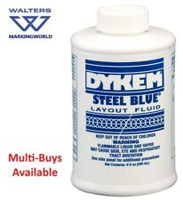 Dykem Engineers Steel Blue & Red Layout Fluid - 8oz/236ml Brush in Cap Bottle