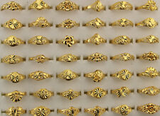Newest Wholesale Jewelry Mixed Lots 40pcs Gold P Alloy Assorted Lady's Rings