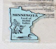 L'Original Objets de Collection Aimant État Minnesota Land Of 10,000 Lakes Bleu