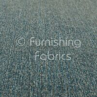 Soft Quality Flat Basket Weave Blue Chenille Plain Upholstery Furnishing Fabric