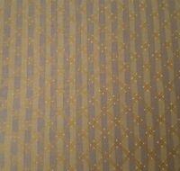 Little Lonni's BTY Lonni Rossi Andover Diagonal Plaid Stripe Tan Gray Gold
