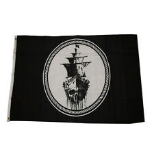 3'x5' Jolly Roger Pirate Black Sea Ghost Ship Black Pearl Flag Grommets KeK