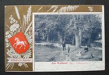 """Alte AK - Karte 1905 """"Gruß aus Neukloster -Hannover- Zur Waldlust"""" n Flensburg"""
