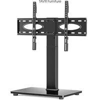 Tabletop TV Stand Base with Swivel Mount for 37-70 inch Flat/Curved Screen TVs