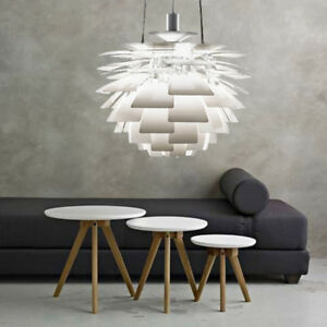 Nordic Style Aluminum PH Artichoke Lamp Ceiling Pendants Chandelier White/Silver