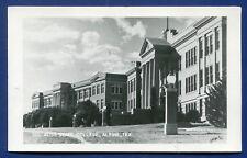 Alpine Texas tx Sul Ross State College real photo postcard RPPC