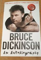 BRUCE DICKINSON HAND SIGNED AUTOGRAPH AN AUTOBIOGRAPHY  BOOK IRON MAIDEN ROCK
