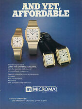 1979 Microma Swiss Quartz Watch Print Ad