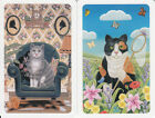 Vintage Swap / Playing Cards - 2 Single, Cats indoors/ outdoors (PIATNIKS)
