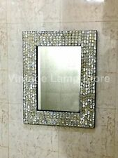 Decorative Mother of Pearl Inlay Frame Mirror Bedroom Decorative Wall Decor
