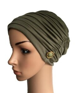 HEADWEAR FOR HAIR LOSS, STYLISH RUCHED LINED HAT, CHEMO, ALOPECIA, CANCER