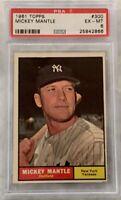 1961 Topps #300 Mickey Mantle - HOF - Yankees - PSA 6 - EX-MT - 25842866 - (SCA)