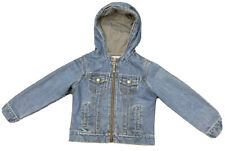 Old Navy Denim Jacket With Lining and Hood Boys Size 6 - Vintage Look