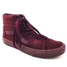 Vans Sk8 Hi Top Zip Canvas Lace Up Skate Shoes Mens 7 Womens 8.5 Burgundy