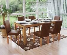 Lot de 6 chaises de séjour Littau, tissu - aspect daim / pieds clairs