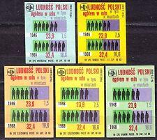 POLAND 1969 Matchbox Label - Cat.Z#910 set GUS population of Poland, in millions